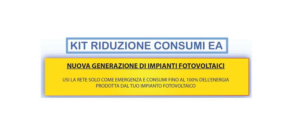 KIT riduzione consumi - NUOVA GENERAZIONE DI IMPIANTI FOTOVOLTAICI